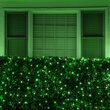 4' x 6' Green 5mm LED Christmas Net Lights, 100 Lamps on Green Wire
