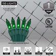 4' x 6' Green Mini Christmas Net Lights, 150 Lights on Green Wire