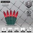 4' x 6' Red Mini Christmas Net Lights, 150 Lights on Green Wire