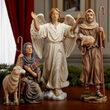 Deluxe Shepherds and Angel Nativity