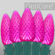 C9 Pink OptiCore Commercial LED Christmas Lights, 25 Lights, 25'