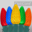 C9 Multicolor OptiCore Commercial LED Christmas Lights, 25 Lights, 25'