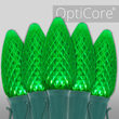 C9 Green OptiCore Commercial LED Halloween Christmas Lights, 25 Lights, 25'