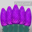 C9 Purple OptiCore Commercial LED Halloween Christmas Lights, 25 Lights, 25'