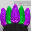 C9 Green / Purple OptiCore Commercial LED Halloween Lights, 50 Lights, 50'