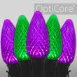 C9 Green / Purple OptiCore Commercial LED Halloween Lights, 50 Lights, 50'