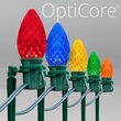 C7 Multicolor OptiCore Christmas LED Pathway Lights, 100 Lights, 7.5 Inch Stakes, 100'