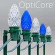 C7 Blue / Cool White OptiCore Christmas LED Pathway Lights, 100 Lights, 7.5 Inch Stakes, 100'
