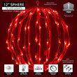 """12"""" Red LED Light Ball, Fold Flat Red Frame"""