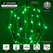 "8"" Green LED Light Ball, Fold Flat Green Frame"