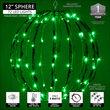 """12"""" Green LED Light Ball, Fold Flat Green Frame"""