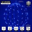 "16"" Blue LED Light Ball, Fold Flat Blue Frame"