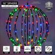 "16"" Multicolor LED Light Ball, Fold Flat Black Frame"