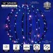 "16"" RGB LED Multi-Function Light Ball, Fold Flat Black Frame"