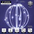 """8"""" Cool White LED Fairy Light Ball, Fold Flat White Frame"""