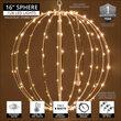 """16"""" Warm White LED Fairy Light Ball, Fold Flat White Frame"""