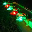 C9 Green / Red FlexFilament TM Shatterproof Vintage Commercial LED Christmas Lights, 50 Lights, 50'