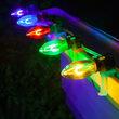 C9 Multicolor FlexFilament Shatterproof Vintage Commercial LED Christmas Lights, 15 Lights, 15'