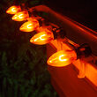 C9 Amber FlexFilament TM Shatterproof Vintage Commercial LED Christmas Lights, 15 Lights, 15'