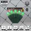 4' x 6' Green SoftTwinkle 5mm LED Christmas Net Lights, 70 Lights on Green Wire