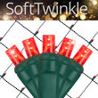 4' x 6' Red SoftTwinkle 5mm LED Christmas Net Lights, 70 Lights on Green Wire