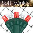 4' x 6' Red, Cool White SoftTwinkle 5mm LED Christmas Net Lights, 70 Lights on Green Wire