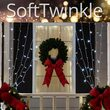 "150 SoftTwinkle TM LED Curtain Lights, 66"" Drops, 150 Cool White Lights, White Wire"