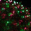 4' x 6' Purple, Green Mini Christmas Net Lights, 150 Lights on Black Wire