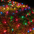 4' x 8' Multicolor Mini Christmas Net Lights, 200 Lamps on Green Wire