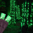 "20"" x 45"" Green StretchNet Pro 5mm LED Christmas Trunk Wrap Lights, 50 Lights on Brown Wire"