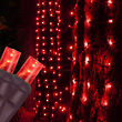 """20"""" x 45"""" Red StretchNet Pro 5mm LED Christmas Trunk Wrap Lights, 50 Lights on Brown Wire"""