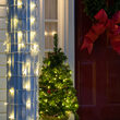 "20"" x 45"" Warm White StretchNet Pro 5mm LED Christmas Column Wrap Lights, 50 Lights on White Wire"