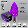C7 Purple OptiCore Commercial LED Halloween Lights, 25 Lights, 25'