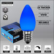 C7 Blue Smooth OptiCore Commercial LED Christmas Lights, 25 Lights, 25'