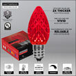 C7 Red OptiCore Commercial LED Christmas Lights, 25 Lights, 25'
