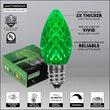 C7 Green OptiCore Commercial LED Halloween Christmas Lights, 25 Lights, 25'