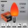 C7 Opaque Amber OptiCore LED Bulbs