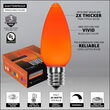 C9 Opaque Amber OptiCore LED Bulbs