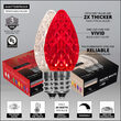 C7 Red / Warm White OptiCore Commercial LED Christmas Lights, 50 Lights, 50'