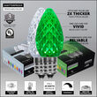C7 Cool White / Green OptiCore Commercial LED Christmas Lights, 50 Lights, 50'