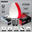 C7 Cool White / Red Smooth OptiCore Commercial LED Christmas Lights, 50 Lights, 50'