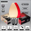 C7 Red / Warm White Smooth OptiCore Commercial LED Christmas Lights, 50 Lights, 50'