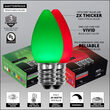 C7 Green / Red Smooth OptiCore Commercial LED Christmas Lights, 50 Lights, 50'