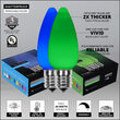 C9 Blue / Green Smooth OptiCore Commercial LED Christmas Lights, 50 Lights, 50'