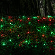 4' x 6' Red, Green SoftTwinkle 5mm LED Christmas Net Lights, 70 Lights on Green Wire