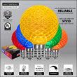 G50 Multicolor OptiCore LED Globe Light Bulbs, E17 - Intermediate Base