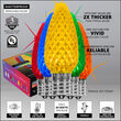 C9 Multicolor Twinkle OptiCore Commercial LED Christmas Lights, 25 Lights, 25'