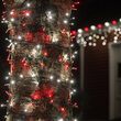 5mm Wide Angle Red, Cool White LED Christmas Lights on Green Wire