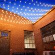 25' Warm White OptiCore LED Patio String Light Set with 25 G50 Bulbs on Black Wire, E12 Base
