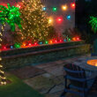 30' Multicolor FlexFilament LED Patio String Light Set with 10 S14 Bulbs on Black Wire